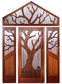 The Mitchell Creek Entrance Door & Custom Wood Doors by Mendocino Doors ~ Exterior and Interior ~ Door ...