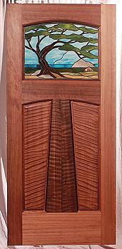 The Alameda Craftsman Entry & Custom Wood Doors by Mendocino Doors ~ Exterior and Interior ~ Door ...